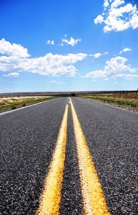 Estrada no deserto